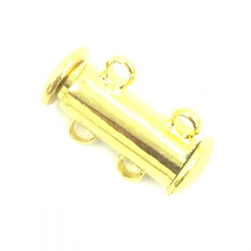 4 x 2 Strand Magnetic Sliding Clasps Gold Plated -163208038